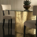 Gold Leaf Log Dining Table