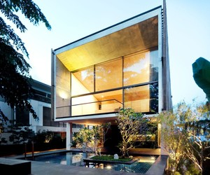 Golden Beauty of Sentosa House by Nicholas Burns