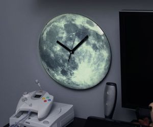 Goodnight Moon Clock glows on turning off the lights
