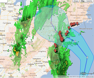 Google's Crisis Map For Hurricane Sandy