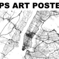 GPS Art Poster