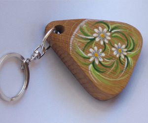 Green Bits keychains recycled wine barrel morsels