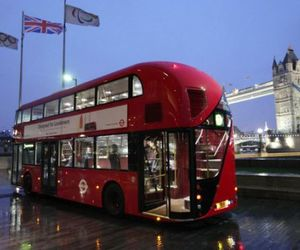 Green Double Decker Bus In London