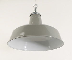 Grey Enamelled Industrial Downlighters