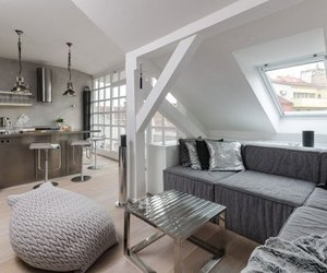Grey Loft in Prague by OOOOX