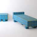 Grid Sofa and Stools