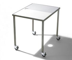 Guajira, a steel and Corian laptop table by Antony Perez