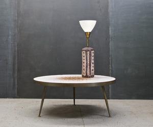 Guido Gambone Ceramic Table Lamp, Vintage Mid Century