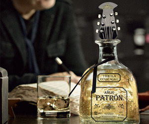 Guitar Stopper Bottle of Patron Tequila