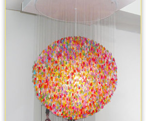 Gummi bear chandelier