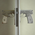 Gun Shaped Doorknobs Function Like A Real Pistol.