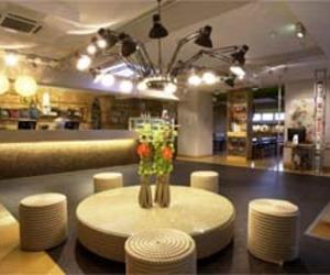 Hamburg, Modern Superbude Hotel Interior Design by Dreimeta