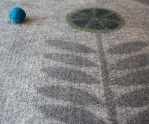 Hand Made Felt Rugs by Melina Raissnia