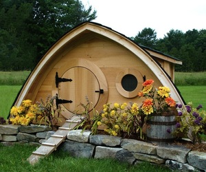 Hobbit Hole, Hand Made Chicken Coops