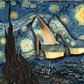Hand-Painted Pumps As Famous Paintings