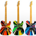 Hand-painted Telecaster Guitars & Effects Pedals