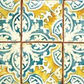 Hand-Painted Terra Cotta Tile from Urban Archeology