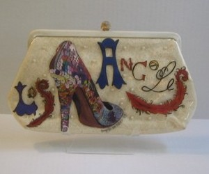 Hand-Painted Vintage Purse - Los Angeles