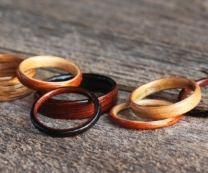 Handcrafted Bent Wood Rings by Bojt Studio