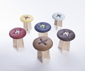 Handmade button stools