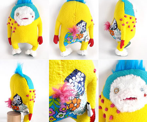 handmade stuffed monsters by kaori tanji