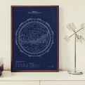 Handprinted Stellar Map Silkscreen Prints