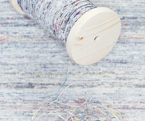 Handspun Recycled Newspaper Yarn