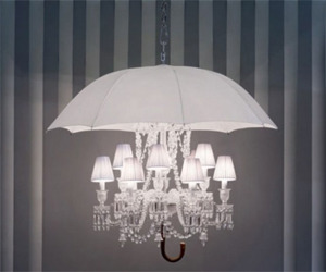 Hanging Lamp with Umbrella Beautiful