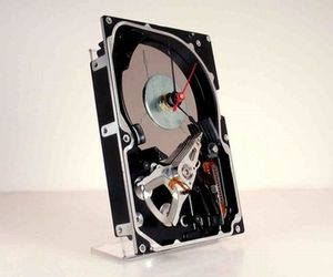 Hard Drive:  Desk Clock Unique