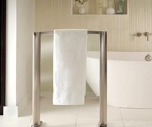 Heated Glass Towel Warmer - Freestanding