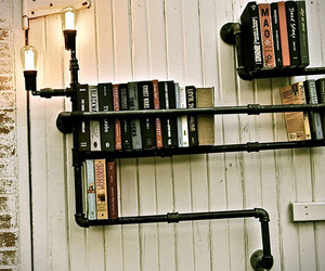 Iron Plumbing Bookshelves