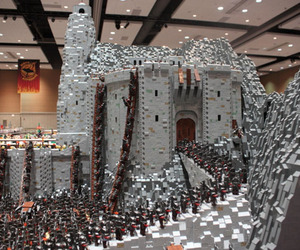 Helm's Deep LEGO Battle Scene