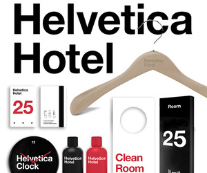 Helvetica Hotel design by Albert Son