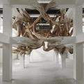 Henrique Oliveira's installation at Palais de Tokyo