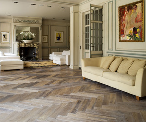 Herrinbone Parquet Flooring by Ebony and Co