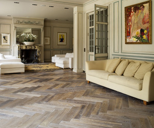 Herringbone Parquet Flooring by Ebony and Co