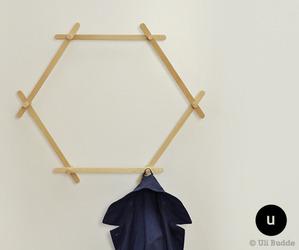Hexagon rack by Uli Budde