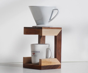 Hickory and Walnut Coffee Drip Stand
