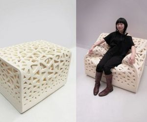 High Density Foam Cube Turns Into a Chair by Yu-Ying Wu.