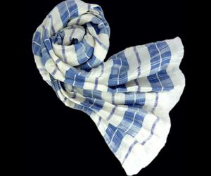 Highland Blue Check Scarf