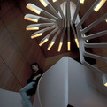 Spiraling Staircase with Integrated Lighting by.PSLAB