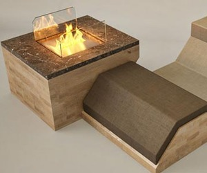 Hillside Fireplace by Hasan Agar and Kubra Agar