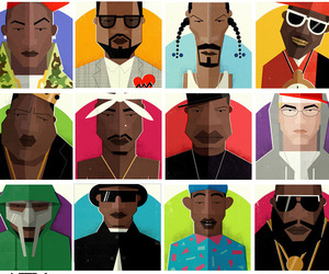 Hip Hop Heads, 14 Graphic Art Portraits.
