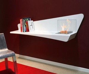 Hélios Bookshelf and Fireplace from CosiHome