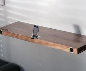 Hohrizontal 51 is an iPod dock disguised as a wall shelf