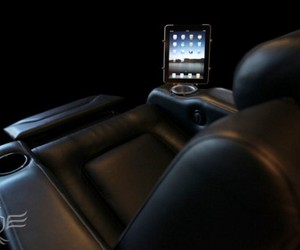 Home Theater Chair with built-in iPads