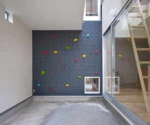 Home with Rock Climbing Wall Inside