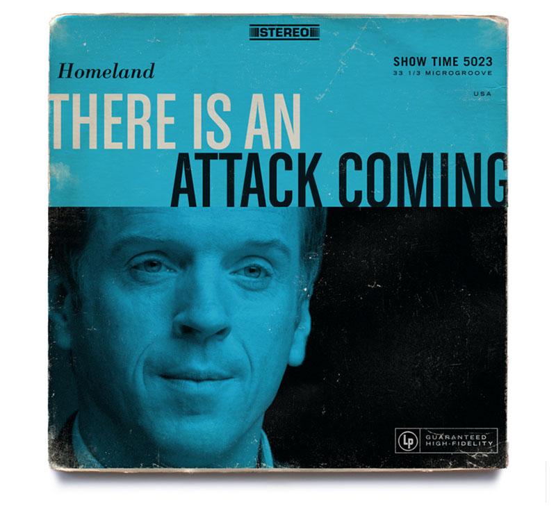 HOMELAND as 12 Vintage Album Covers