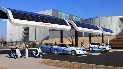 Honda Gas Station V2 0 A Solar Ev Charging Station
