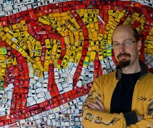 Hot Wheels Mosaic by Kevin Champeny